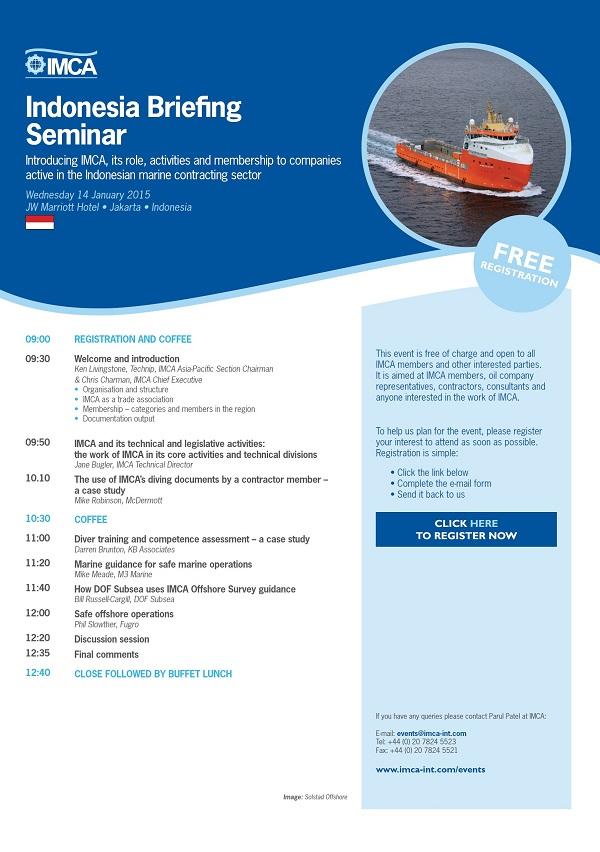 IMCA Indonesia Briefing Seminar
